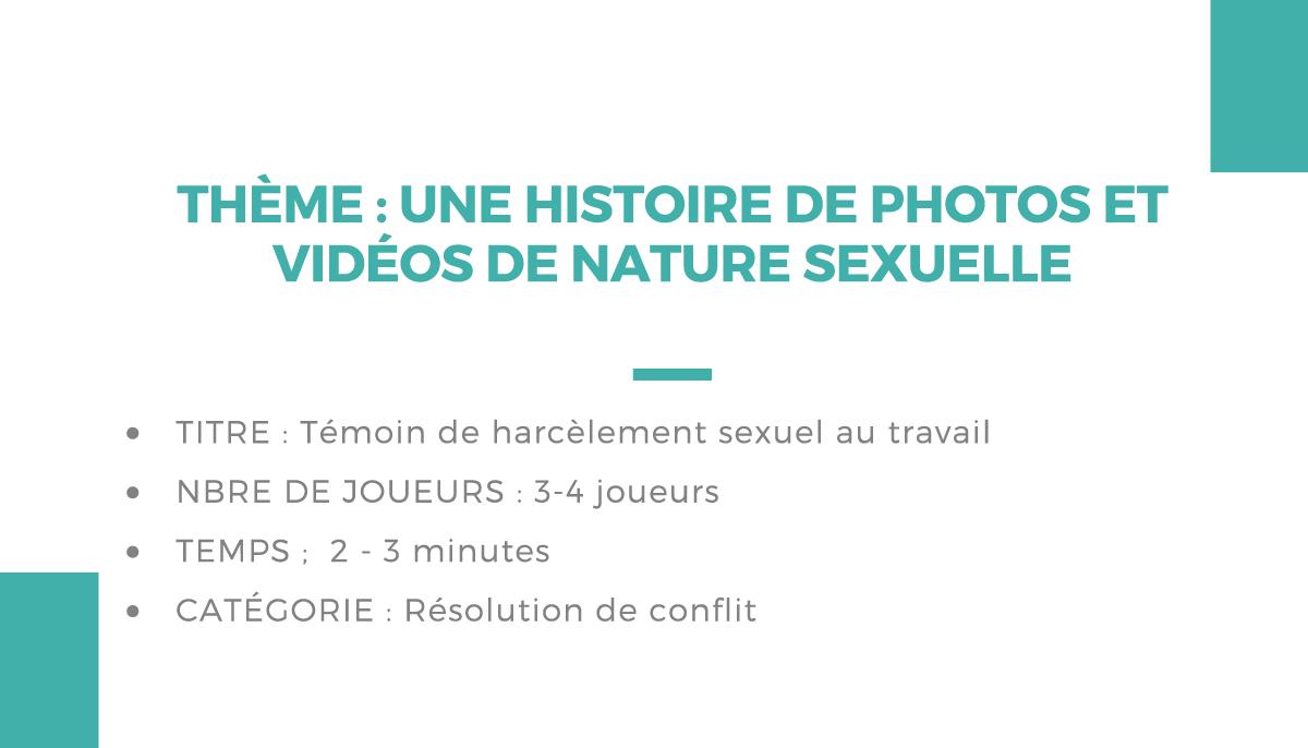 Atelier théâtrale : une histoire de photos et vidéos de nature sexuelle