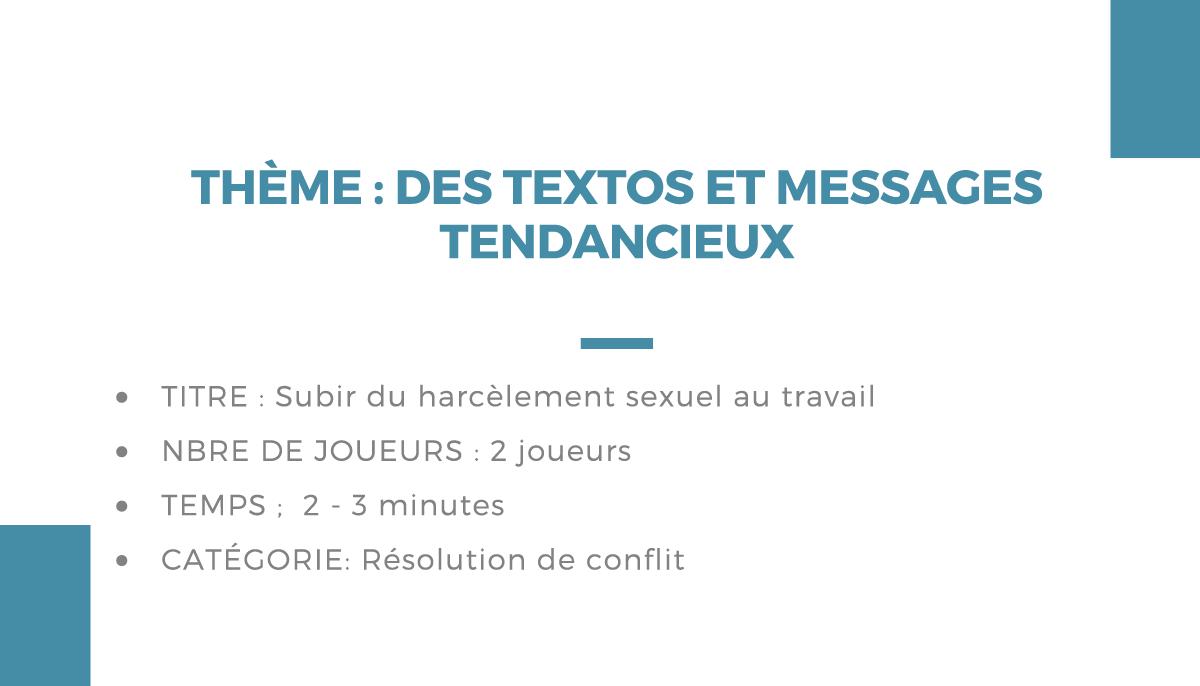 Atelier théâtrale : des textos et messages tendancieux